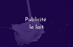 Publicité le lait